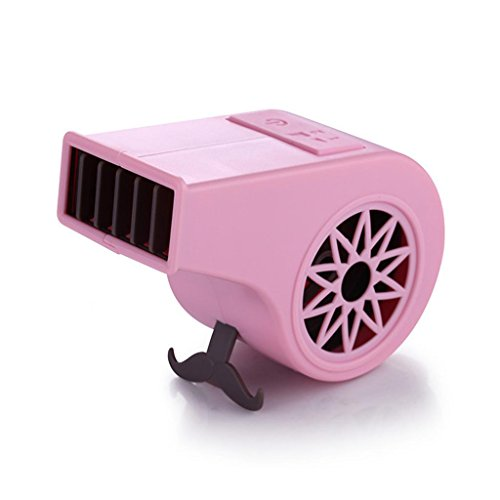 Pfeife Fan USB Lade Mini Outdoor Handheld Stille BüRo Blattlosen Kleinen Fan 11,8x4,8x6,5 CM , Pink