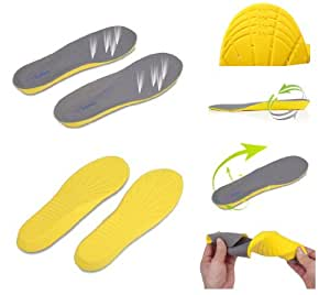 Foot Soothers Sole Memory Orthotic Arch Support Insoles Shock Absorption (Mens UK 2 - 5)