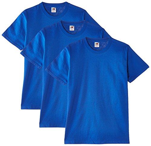 Fruit of the Loom Heavy Cotton Tee Shirt 3 Pack, Camiseta de Manga Corta Para Hombre