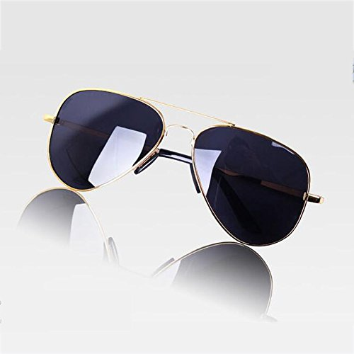 LINANA Neue Herrenmode-Sonnenbrille, Daily Large Full Frame HD polarisierte Sonnencreme, Aviator-Serie (Color : Gold)