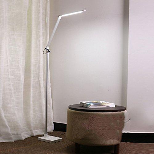 NIUZIMU LED-Leseleuchten, Klavierleuchten, Dimmbar (5 Dimmer, 12W, Memory-Funktion, Touch Control Stehleuchte, Wohnzimmer, Schlafzimmer, Büro) -33 (Color : White-5 pole brightness) -
