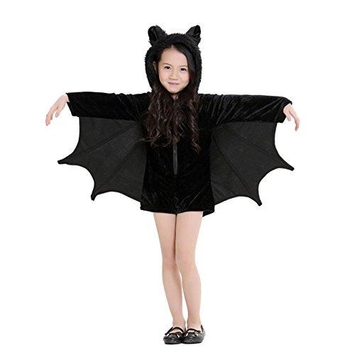 Kinder Erwachsene Halloween Kostüm Kleitung Bekleitung Fledermaus (Kostüme Size Werwolf Plus)