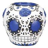 Summit DOD Día de los Muertos Azul Figura Decorativa de Cráneo de Azúcar