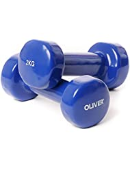Oliver vinylhantel paire d'haltères de force musculaire 2,0 kg (blau) 1 Paar