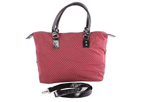 Polka Dots rockabilly Punkte Weekender Shopper Handtasche weinrot