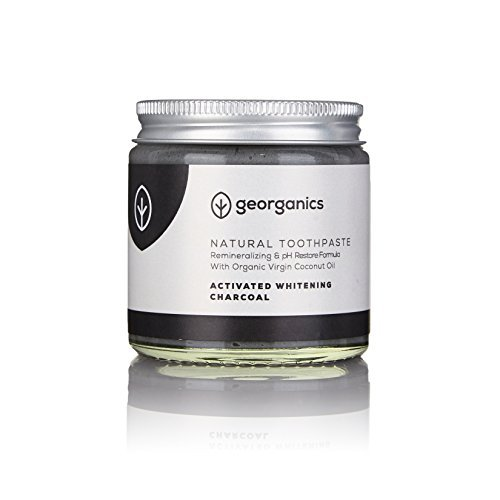 Georganics natürlich biologische Kokosölzahnpasta- Aktivkohle 120 ml Remineralizing Natural Organic Coconut Oil Whitening Toothpaste - Activated Charcoal 120ml