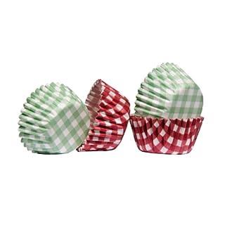 acropolebits oleata Gingham Design 100Mini Cupcake-Förmchen aus fettdichtem Papier & Awesome Look