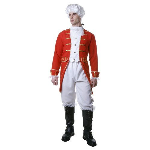 dress up America Kostüm Viktorianischer Man Set mit befestigter Weste/Hose Kofferraum Cover und Hals Schal (XXL) (Royal Palace Guard Kostüm)