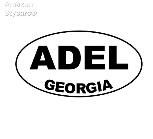 Price comparison product image Stycars® 14.1Cm*7.4Cm Adel Georgia Oval Vinyl Decal Funny Car Sticker Black