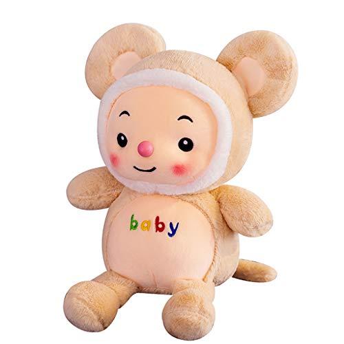 Miss Zhang's shop Giocattolo della Peluche, Cuscino Confortevole per La Bambola di Peluche, Compagno di Giochi per Adulti per Bambini, Regalo Amante Giallo 30Cm