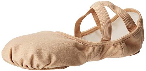 Ballettschläppchen Ballettschuhe von Capezio mit geteilter Sohle in den Farben Schwarz, Rosa, Weiß und Hautfarbe (8 / EU 38 / UK 5, Nude) (Ballet Weiße Flat)