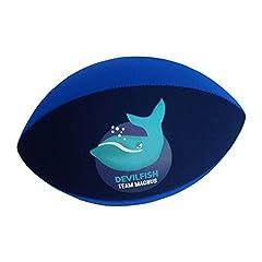 Idea Regalo - Team Magnus Palla da rugby in gomma e neoprene per la spiaggia e per la piscina (Blu navy/Blu)