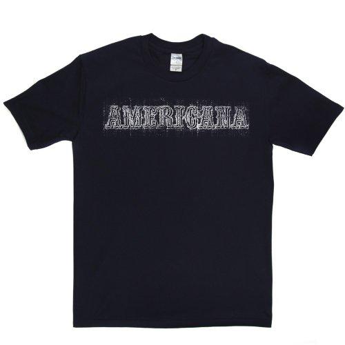 Americana America US USA T-shirt Marineblau