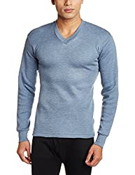 Rupa Thermocot Mens Cotton Thermal Top (8903978490632_AGNI V-N F-S -90_Blue)