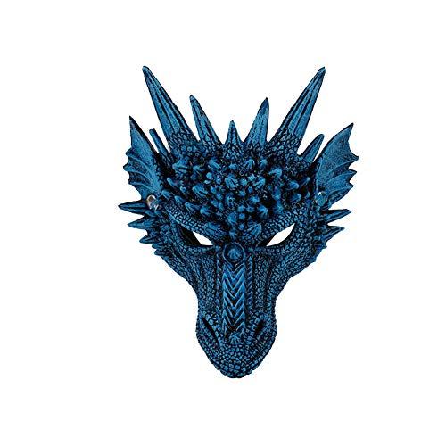 Yisily 1 PC Halloween Party Maske Kreativ 3D Tier Drachen Maske Kostüm Zubehör Karnevals-Party lustige Gesichtsmaske für Weihnachten Halloween Ostern - Kreative Leichte Herren Kostüm