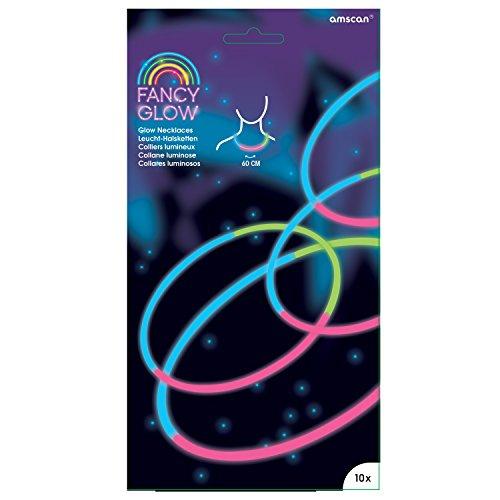 Amscam , Gastgeschenken Glow Necklace10tri-col 20cm (Geburtstag Einladungen Glow)