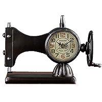 LMSHM Despertador Máquina De Coser Reloj Despertador Decoración De Hierro Relojes De Escritorio Artículos De Decoración