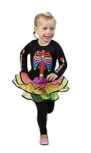 Boland-cs99911-Disfraz-Disfraz Niña Esqueleto, multicolor, 3/4años