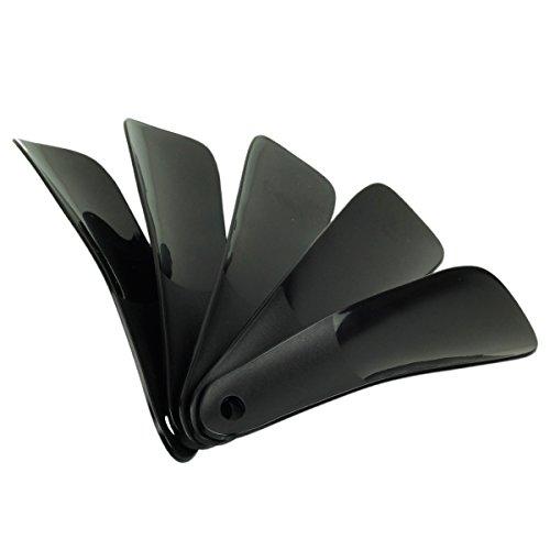 cstom-63-plastic-shoe-horn-small-travel-shoehorn-16cm-set-of-5-black