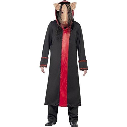 Smiffys Saw Herren Kostüm Pig Jigsaw Karneval Fasching Halloween Gr.M