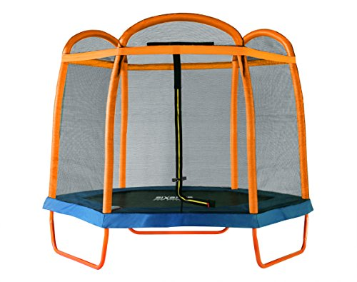 SixBros. SixJump 2,10 M Gartentrampolin Orange Trampolin mit Sicherheitsnetz TO210/2027