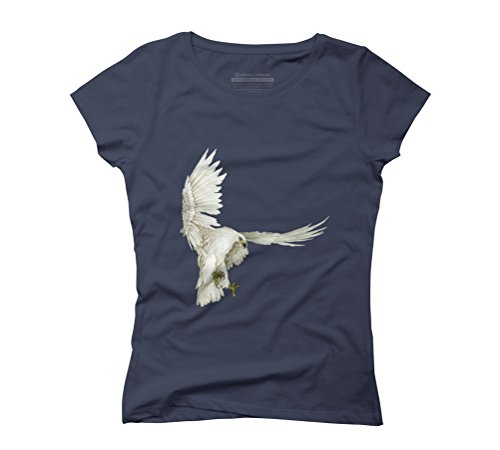 Mongolia Eagle Women's Graphic T-Shirt - Design By Humans Navy