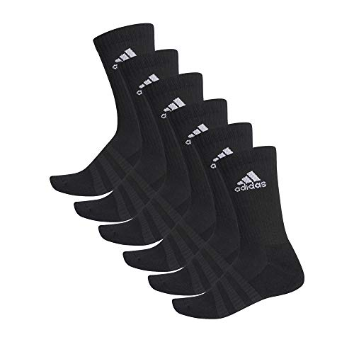 adidas 6 Paar Cushion Crew Socken, Black, L -