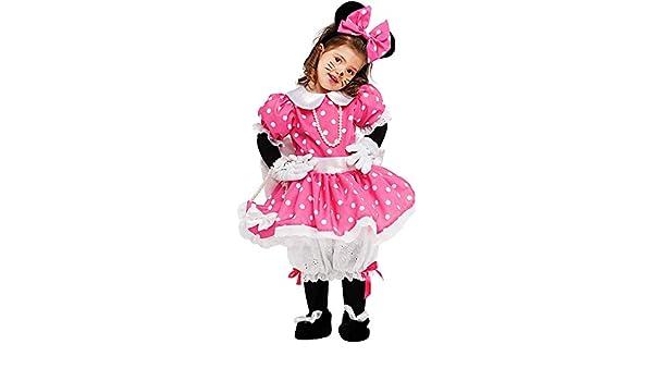 91335274e7ec Costume di Carnevale da Piccola TOPOLETTA Vestito per neonata Bambina 0-3 Anni  Travestimento Veneziano Halloween Cosplay Festa Party 53159 Taglia 2: ...