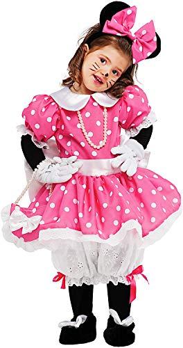 Costume di carnevale da piccola topoletta lusso vestito per neonata bambina 0-3 anni travestimento veneziano halloween cosplay festa party 53159 taglia 2