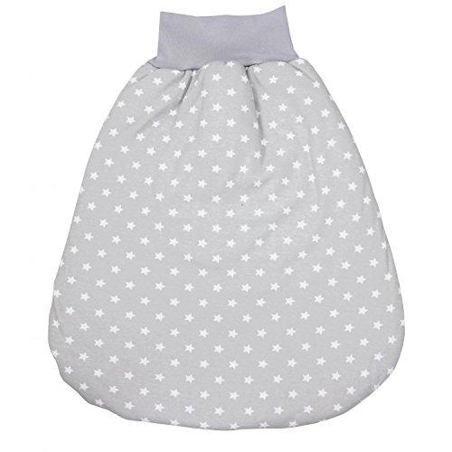 TupTam Baby Unisex Strampelsack mit breitem Bund Wattiert, Farbe: Sternchen Grau/Weiß, Größe: 0-6 Monate