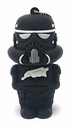 Star Wars Stormtrooper Shadow USB Stick 8GB Schlüsselanhänger | 2.0 High Speed Disney Lustige Geschenke Speicherstick | Memory Stick Flash Drive aus Hart-PVC | 3D Figur Gadget Bayram® Star Wars Lego-männer
