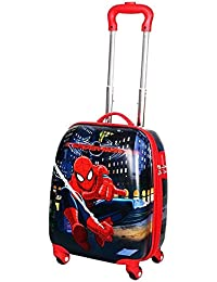 e01db24eab EXCLUSIVE FASHION LUGGAGE Boys  Polycarbonate 360 Degree Rotating Spiderman  Printed Non-Brulti-Colour