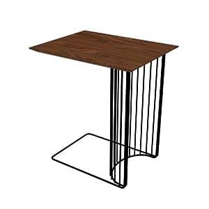 driade Anapo tavolino nero/castagno in MDF/50x 38x 52cm