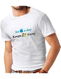 N4246 Männer T-Shirt An Aplle a day ...