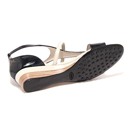 49734 sandalo TOD'S NERO PANNA scarpa donnaa shoes women nero/panna