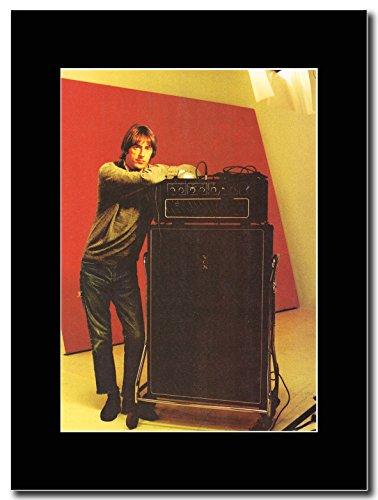Paul Weller-Vox Amp e cabina Magazine Promo su un nero Mount
