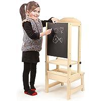 chuck & blair Taburete de Cocina para niños con Taburete para Dibujo, Altura Regulable.