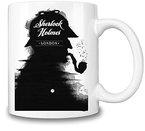 Sherlock Holmes Retro Poster Mug Cup
