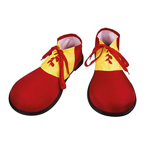 NEU Schuhe Clown, rot-gelb, (Gelb Clown Schuhe)