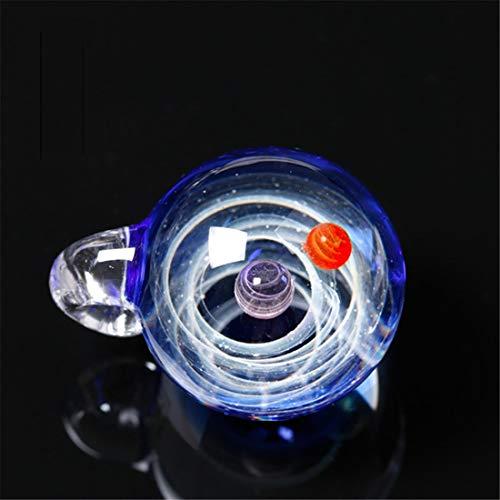 Yeying123 Jungen/Mädchen Kosmische Glas Romantische Glaskugel Pendant Heiligabend Kreatives Geburtstagsgeschenk,Doublebead