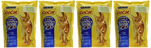 Go-Cat Crunchy and Tender Dry Cat Food Salmon 800g - Case of 4 (3.2kg) 2