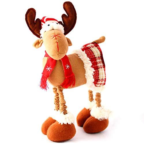 DD-BOMG Élan De Noël en Peluche Renne De Noël Décoration Simulation De Noël Cerf Fée Jardin Miniatures Poupée De Noël