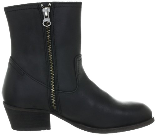 Hudson London Riley Damen Biker Boots Schwarz (Black)