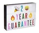 KEPLIN - Caja de cartas con 100 letras de colores, 30 emoticonos,...