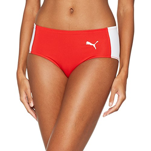 PUMA Damen Cross The Line Brief W Tights, Red White, XS