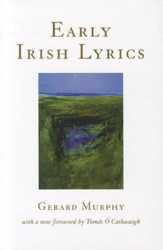 Early Irish Lyrics 8th 12th Century