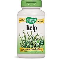 Nature's Way | Kelp | 600 mg | 180 Veggie-Kapseln | Algen