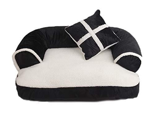 Axcone Panier Chien, Lit pour Chien,Cat Bed,Coussin, Lavable avec Coussin Réversible pour Chien -3-XL