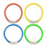 LouiseEvel215 4Pcs / Set Dive Ring Accessori per Piscine Accessori per Il Nuoto per Bambini Giochi Acquatici Giochi d'Acqua