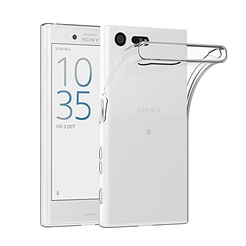 AICEK Sony Xperia X Compact Hülle, Transparent Silikon Schutzhülle für Sony Xperia X Compact Case Ultra Crystal Clear Durchsichtige TPU Bumper Sony Xperia X Compact Handyhülle